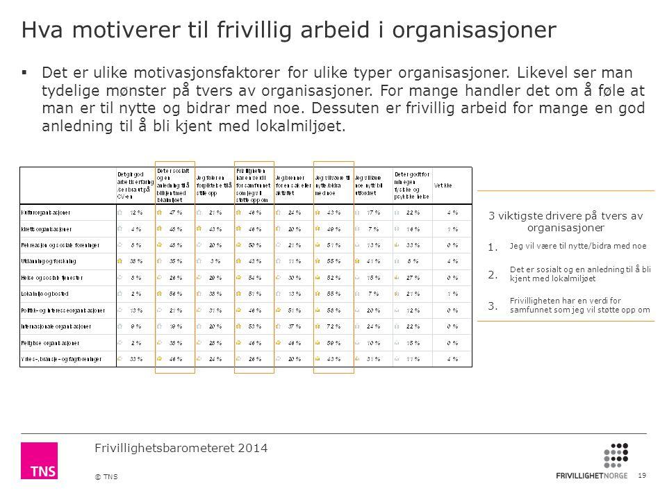 Hva motiverer til frivillig arbeid i organisasjoner