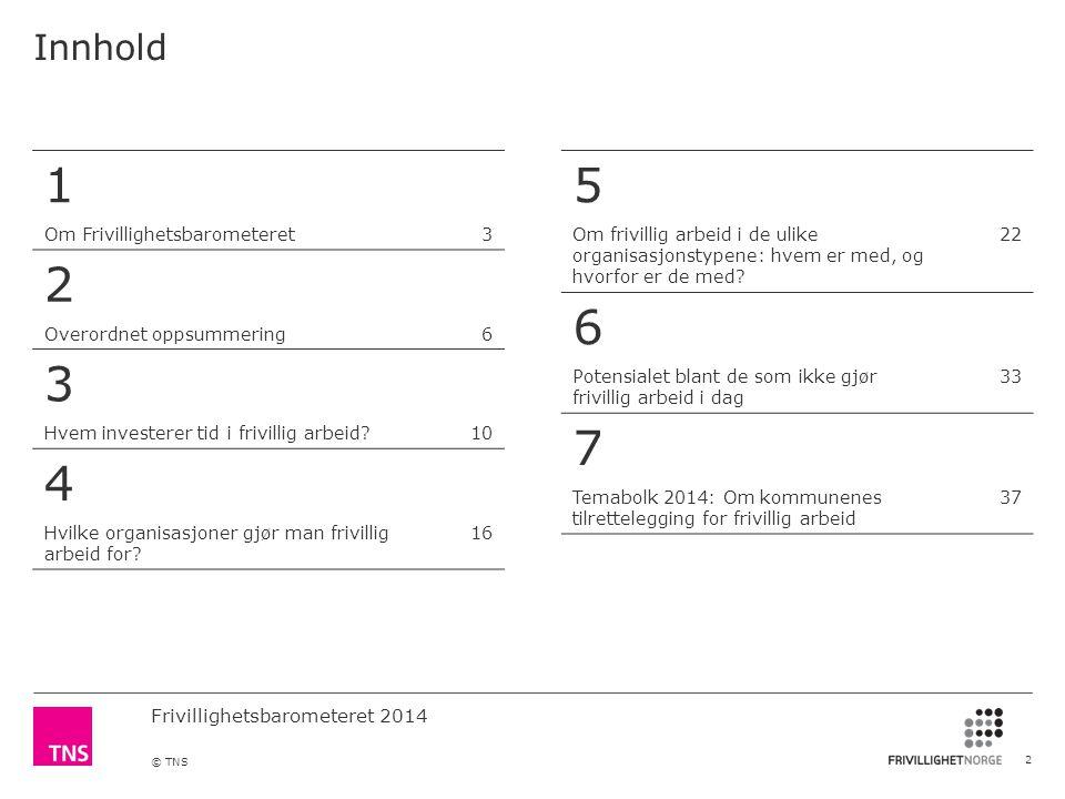 1 2 4 5 6 7 Innhold Om Frivillighetsbarometeret 3