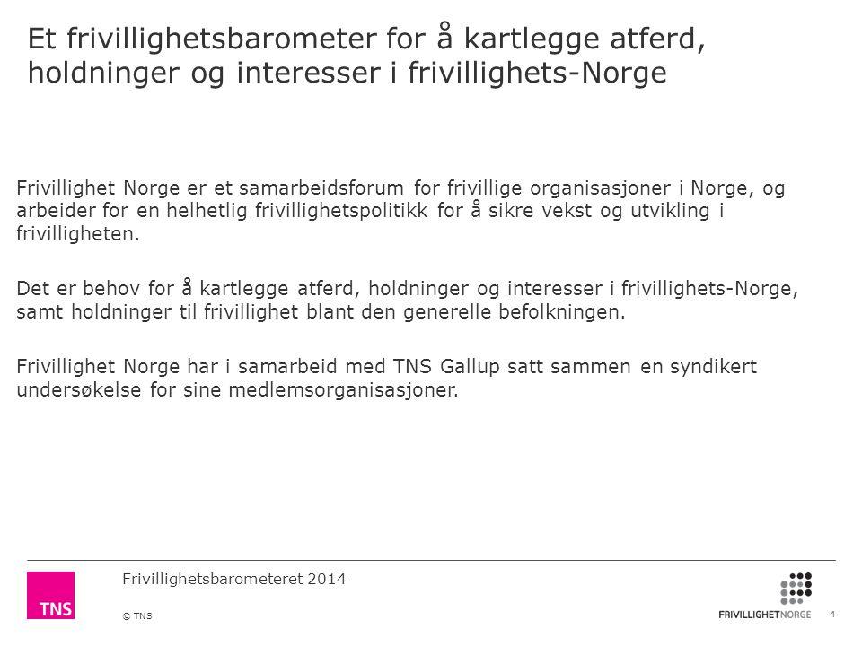 Et frivillighetsbarometer for å kartlegge atferd, holdninger og interesser i frivillighets-Norge