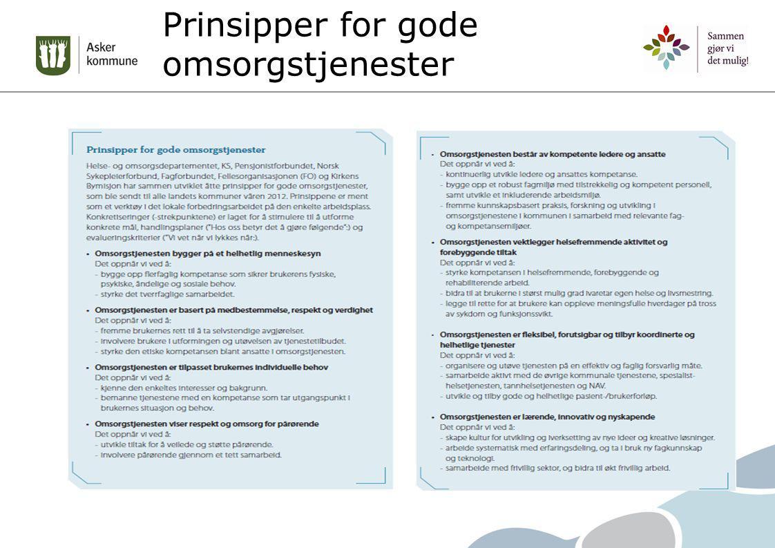 Prinsipper for gode omsorgstjenester