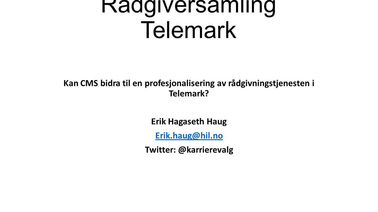 Rådgiversamling Telemark