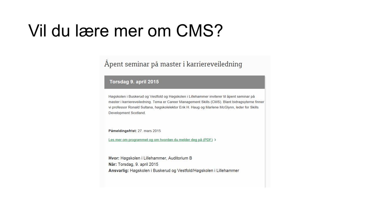 Vil du lære mer om CMS