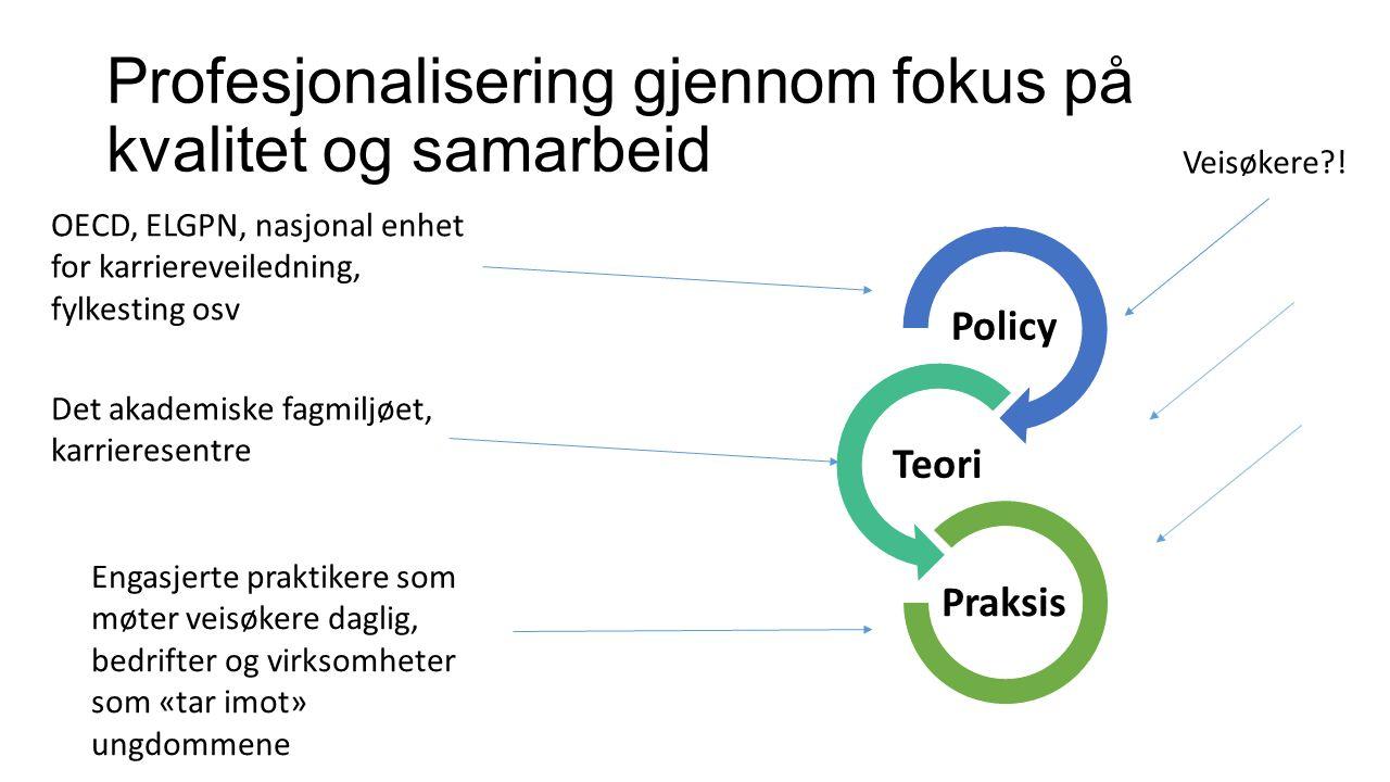 Profesjonalisering gjennom fokus på kvalitet og samarbeid