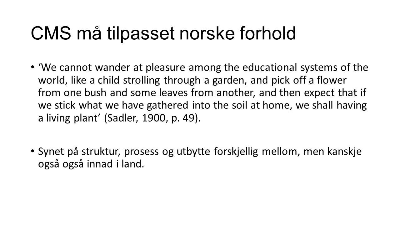 CMS må tilpasset norske forhold