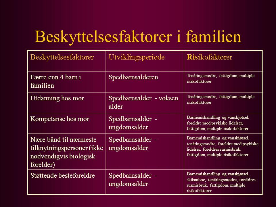 Beskyttelsesfaktorer i familien