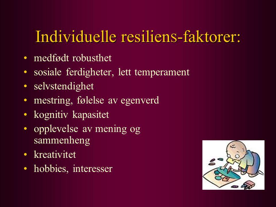 Individuelle resilienS-faktorer: