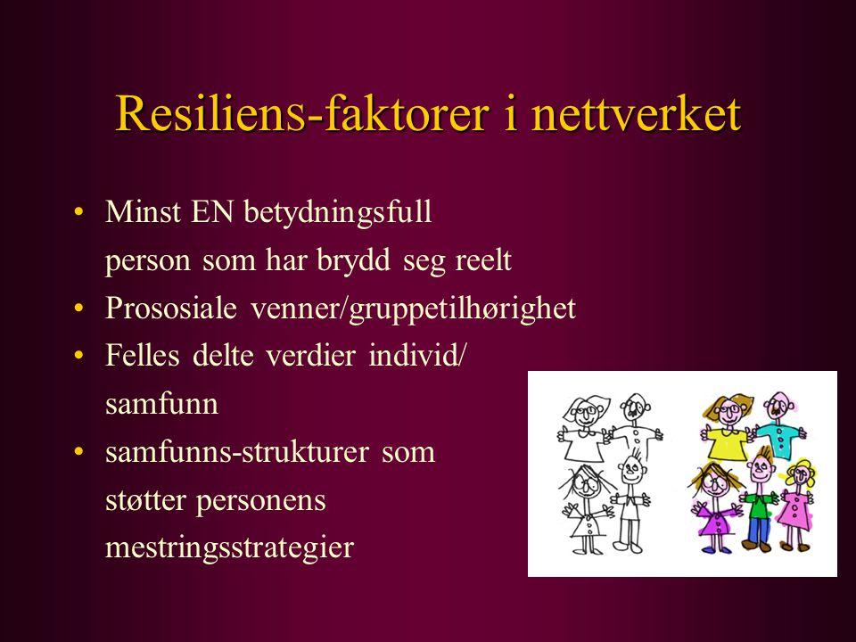 ResilienS-faktorer i nettverket