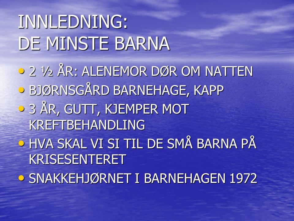 INNLEDNING: DE MINSTE BARNA