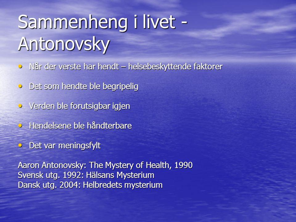 Sammenheng i livet - Antonovsky