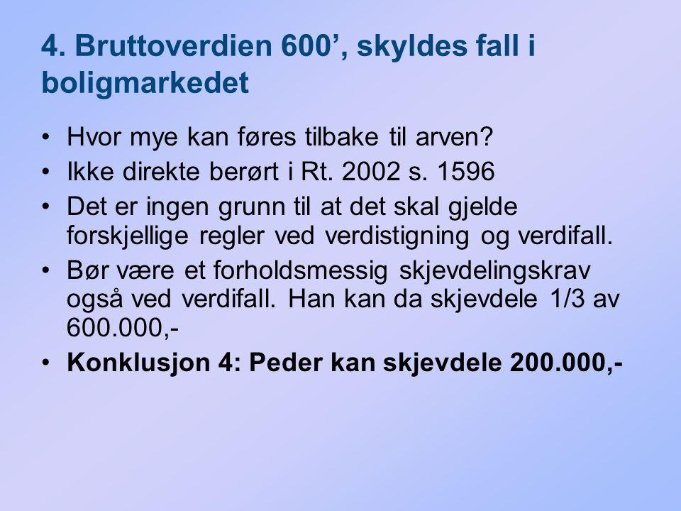4. Bruttoverdien 600', skyldes fall i boligmarkedet