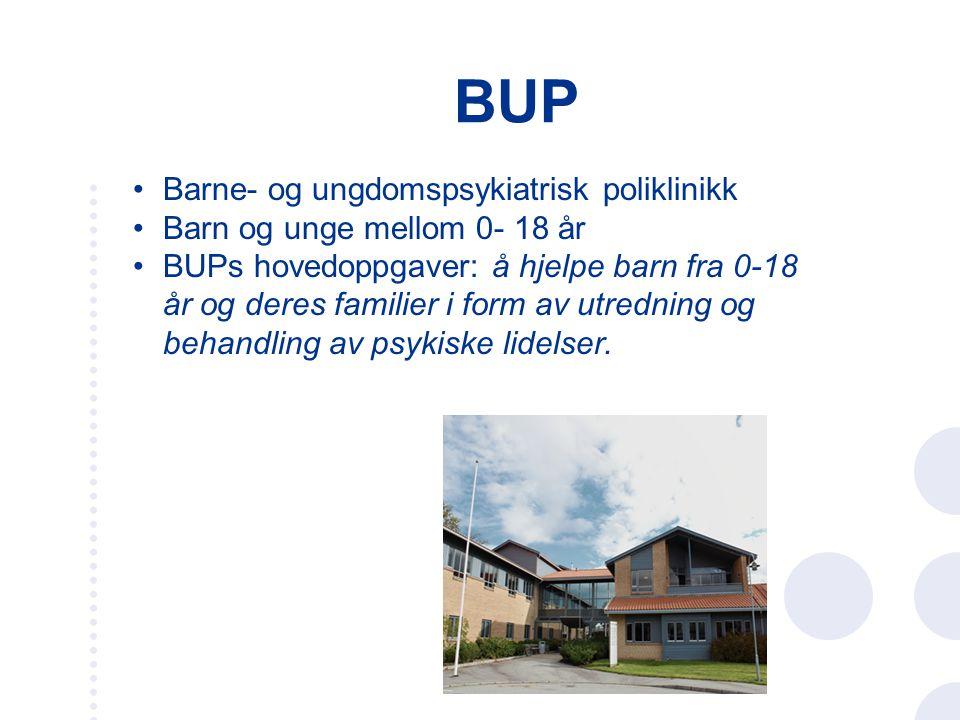 BUP Barne- og ungdomspsykiatrisk poliklinikk