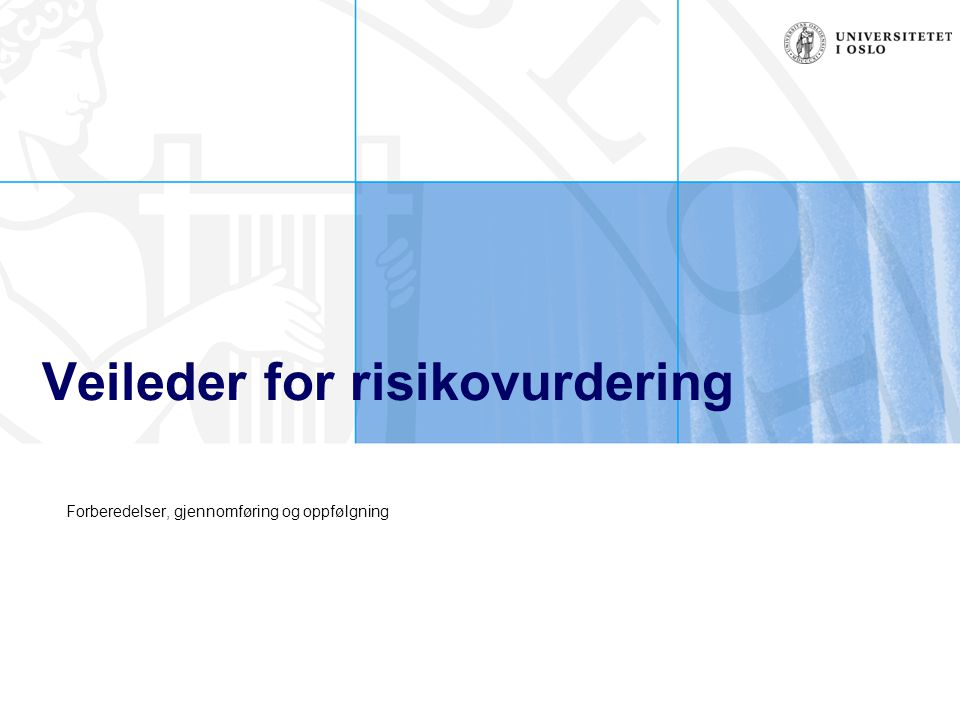 Veileder for risikovurdering