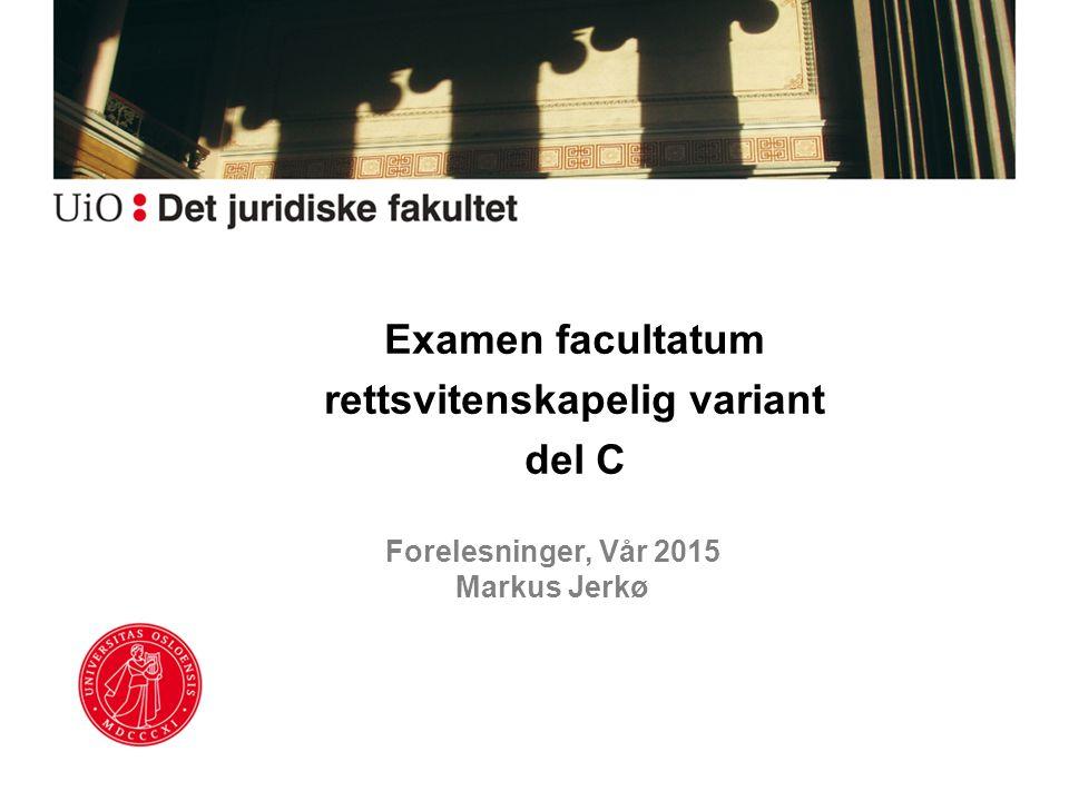 Forelesninger, Vår 2015 Markus Jerkø