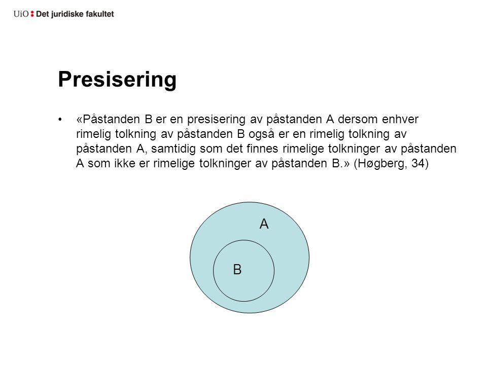 Presisering