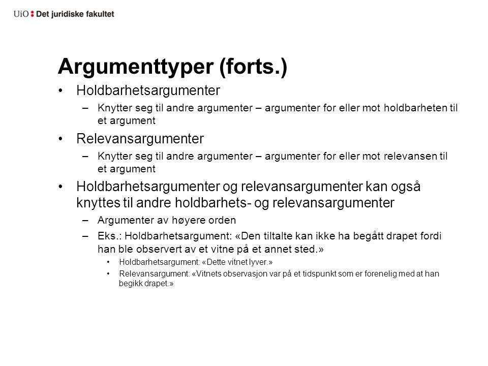 Argumenttyper (forts.)