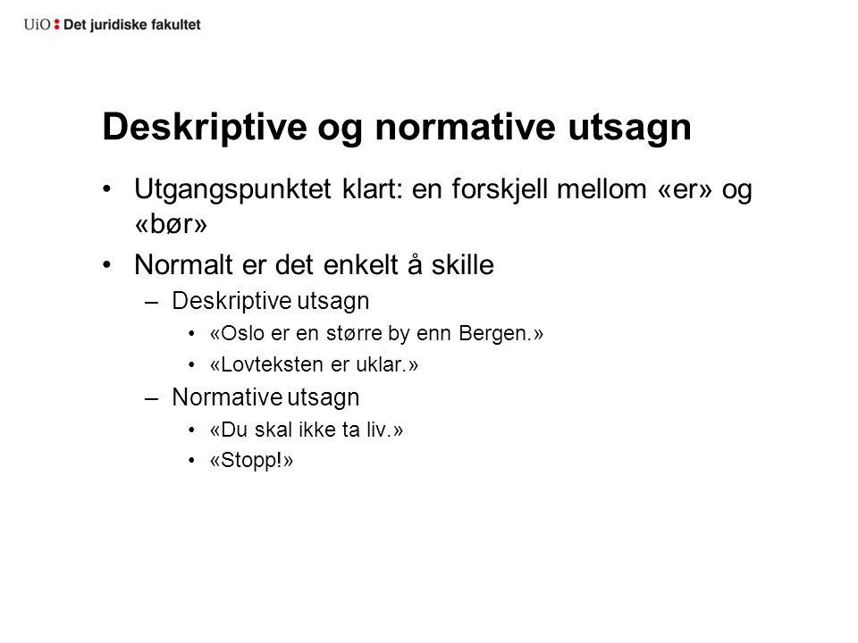 Deskriptive og normative utsagn