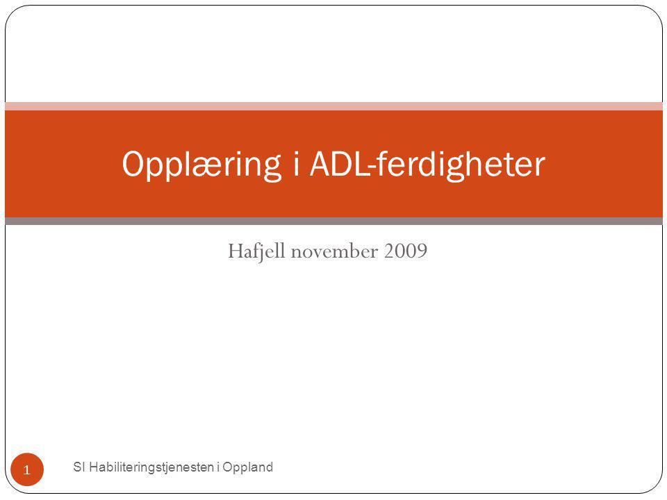Opplæring i ADL-ferdigheter