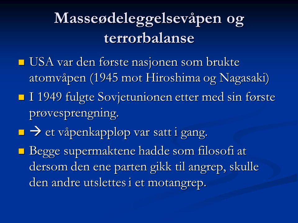 Masseødeleggelsevåpen og terrorbalanse