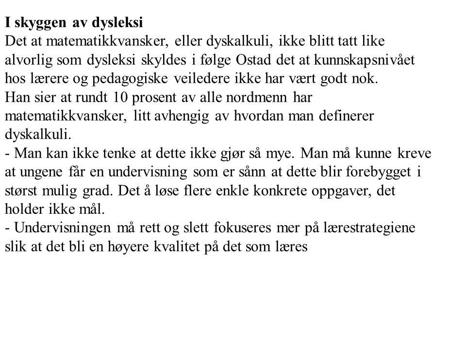 I skyggen av dysleksi
