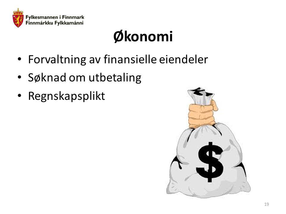 Økonomi Forvaltning av finansielle eiendeler Søknad om utbetaling