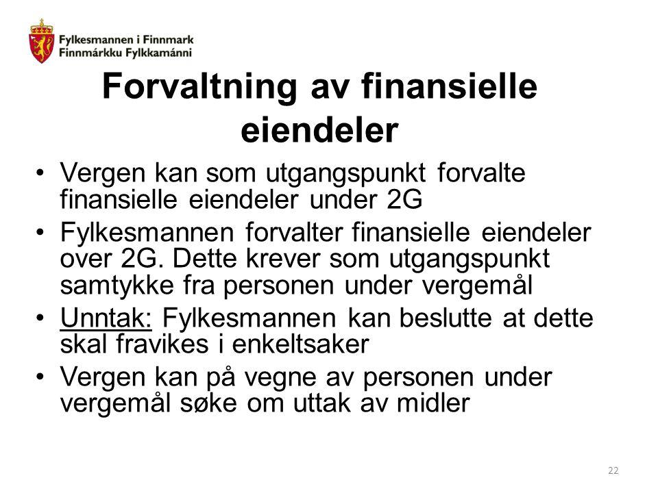 Forvaltning av finansielle eiendeler