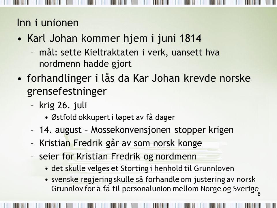 Karl Johan kommer hjem i juni 1814