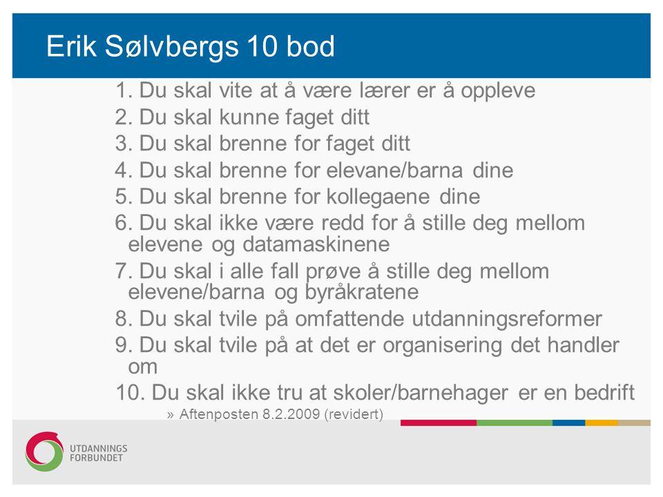 Erik Sølvbergs 10 bod 1. Du skal vite at å være lærer er å oppleve