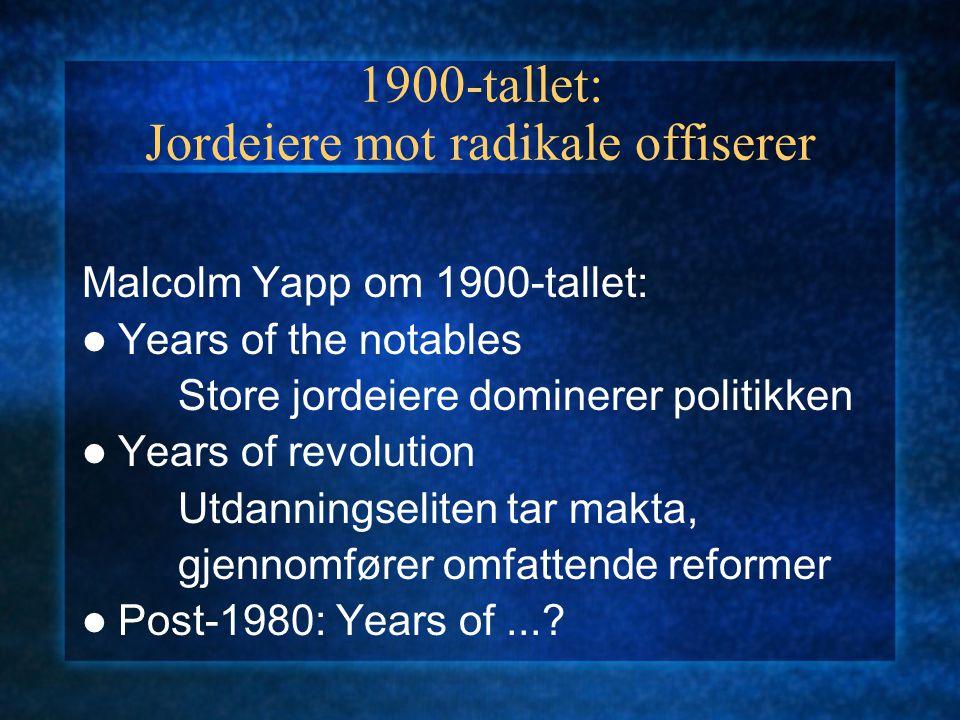 1900-tallet: Jordeiere mot radikale offiserer