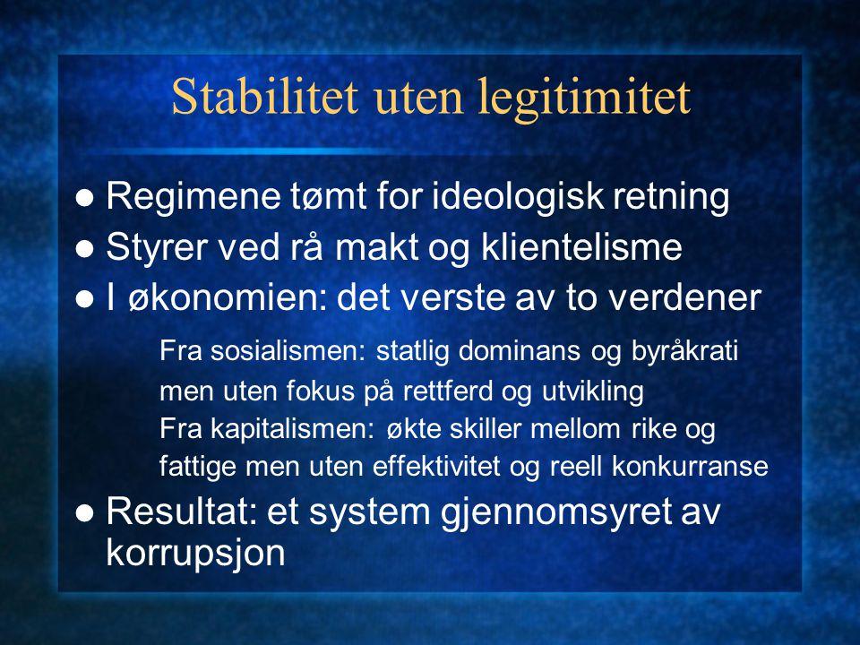 Stabilitet uten legitimitet
