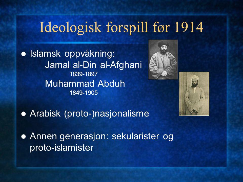 Ideologisk forspill før 1914