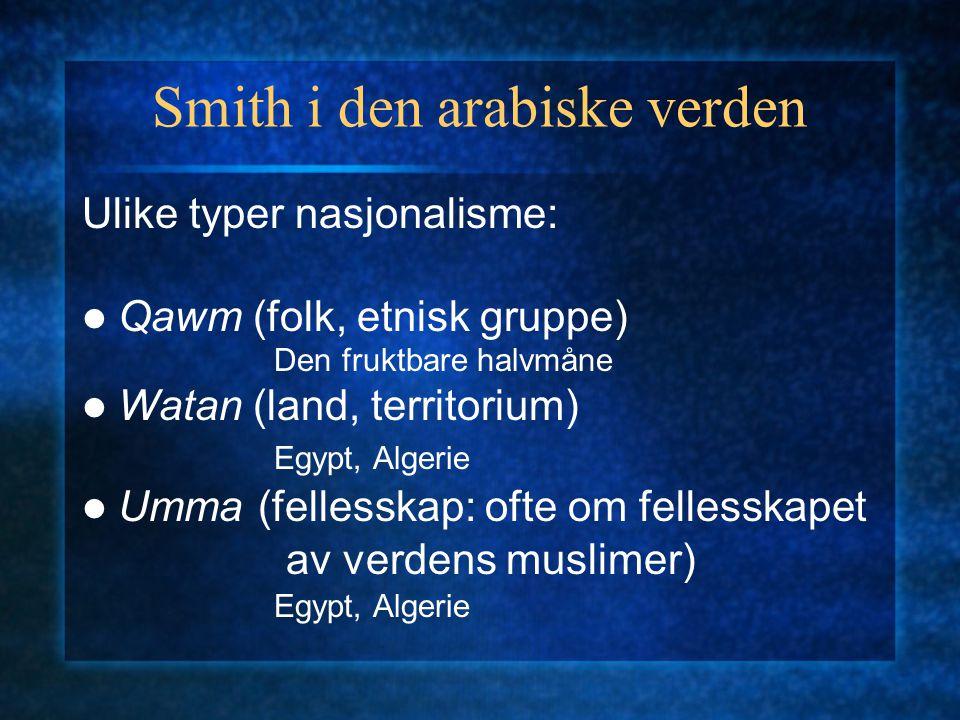 Smith i den arabiske verden
