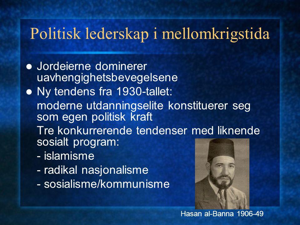 Politisk lederskap i mellomkrigstida