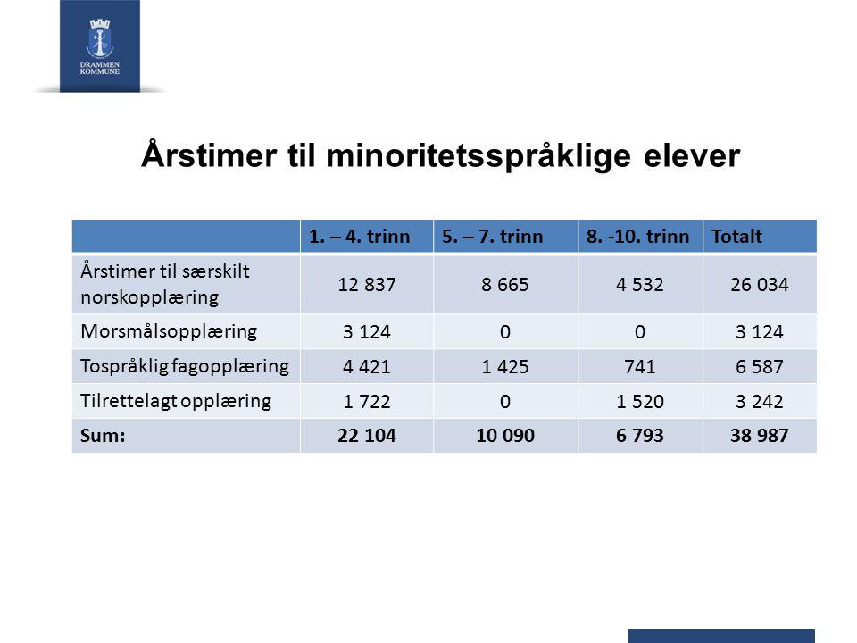 Årstimer til minoritetsspråklige elever