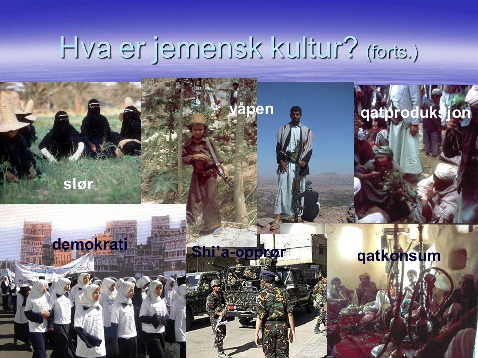 Hva er jemensk kultur (forts.)
