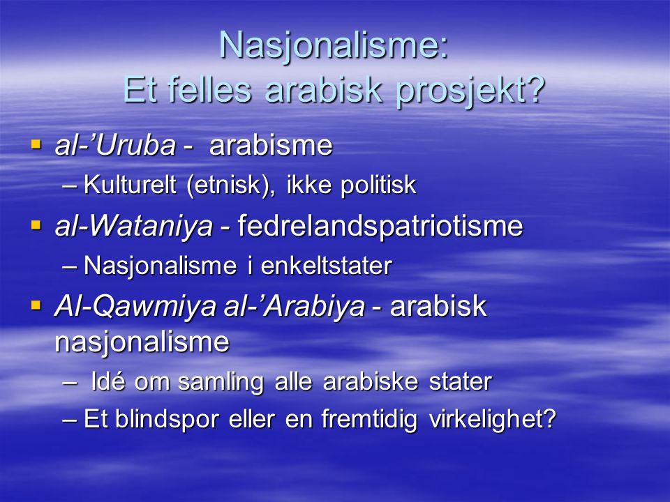 Nasjonalisme: Et felles arabisk prosjekt