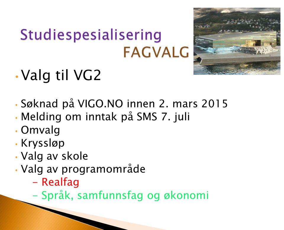 Studiespesialisering FAGVALG