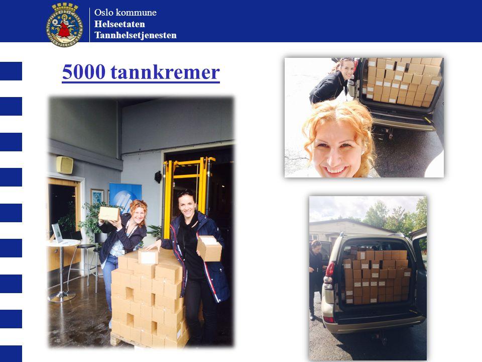 Oslo kommune Helseetaten Tannhelsetjenesten 5000 tannkremer