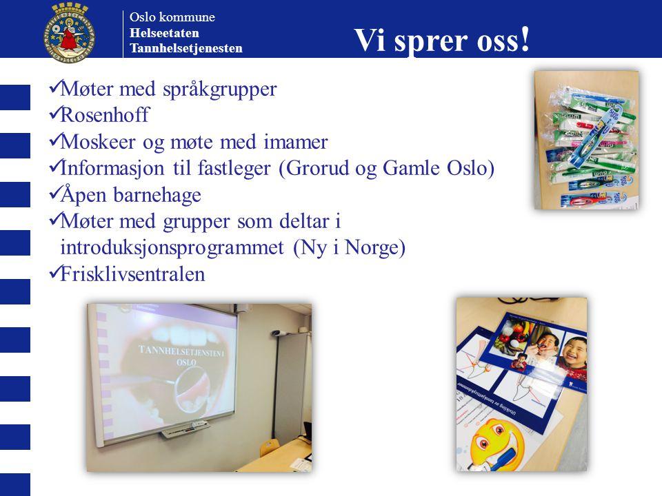 Vi sprer oss! Møter med språkgrupper Rosenhoff