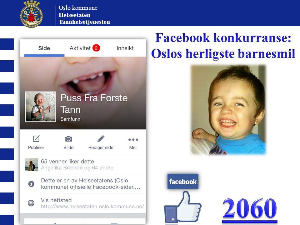 Facebook konkurranse: Oslos herligste barnesmil