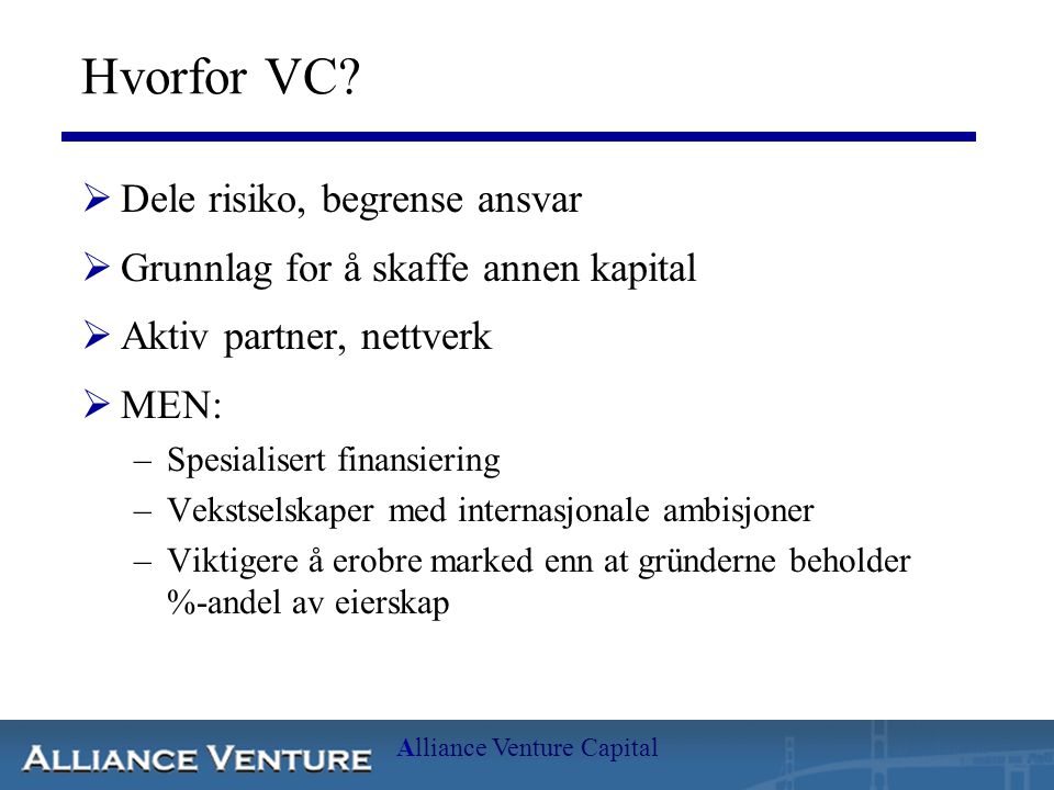 Alliance Venture Capital