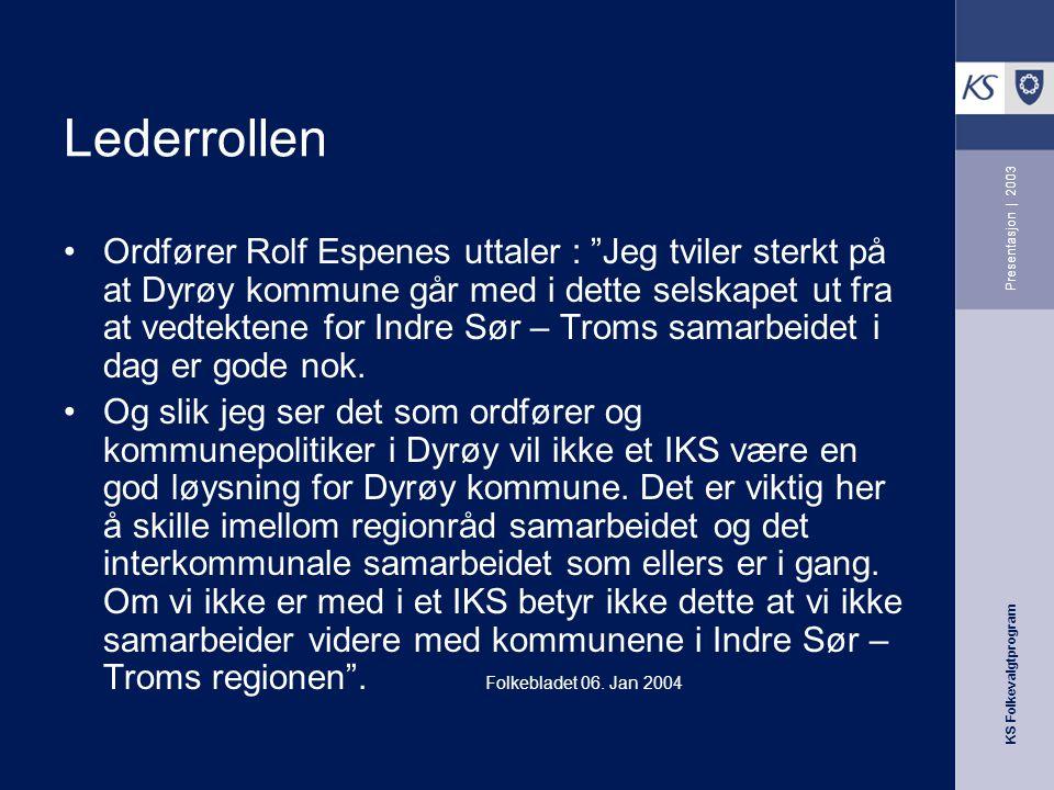Lederrollen Presentasjon | 2003.