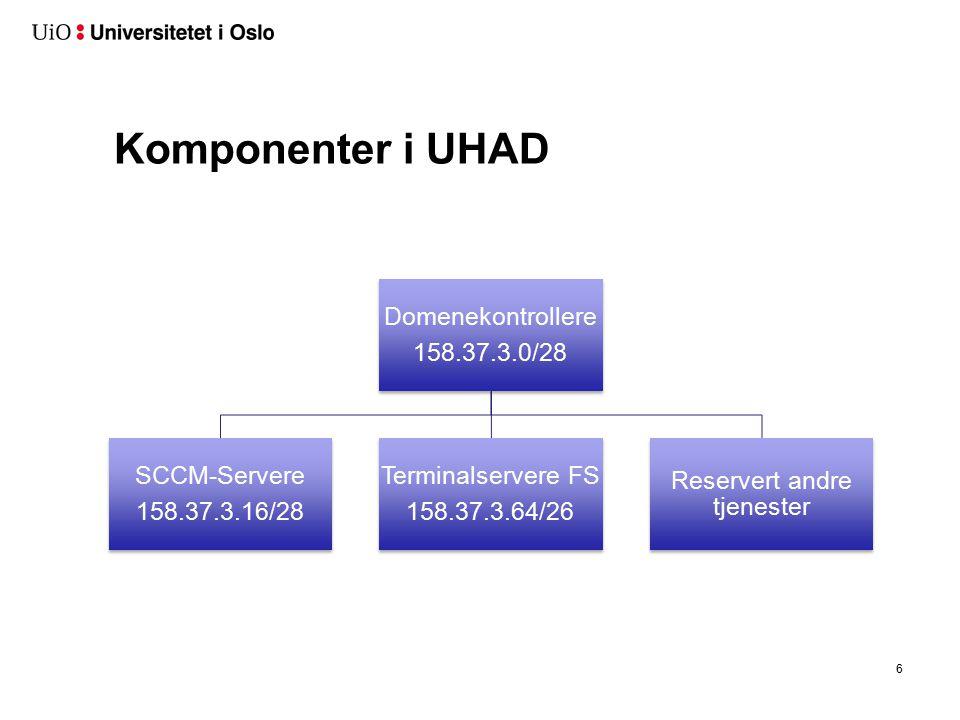 Hvorfor UHAD + FS SFS overtok driftsansvaret fra Uninett fra 1.1 2014.