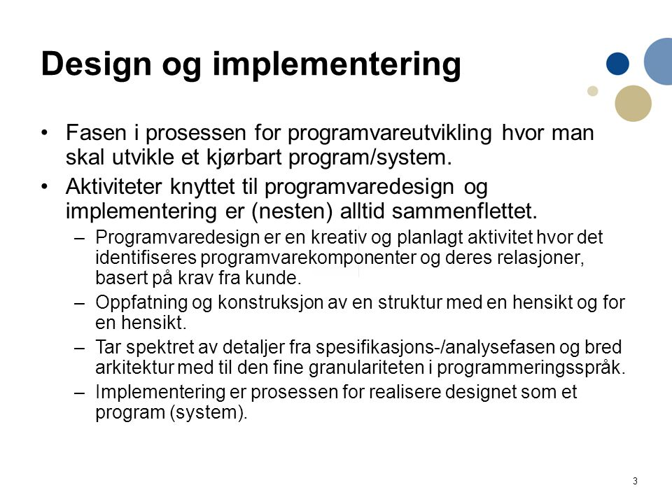 Design og implementering