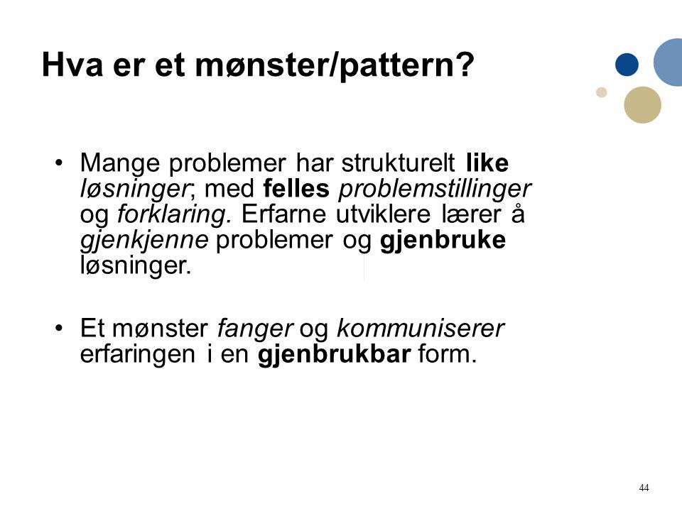 Hva er et mønster/pattern