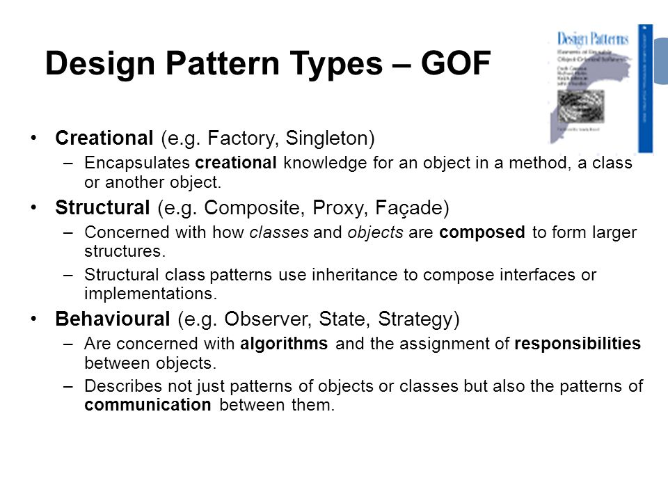 Design Pattern Types – GOF