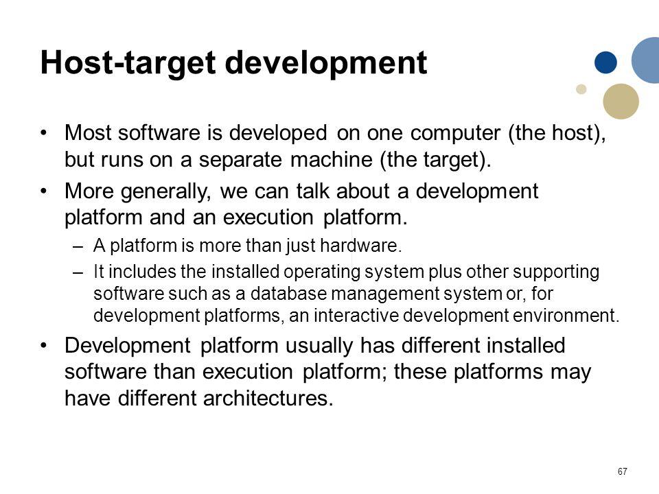 Host-target development