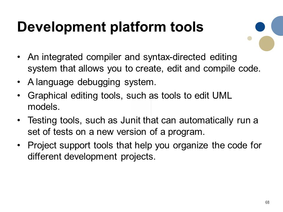 Development platform tools