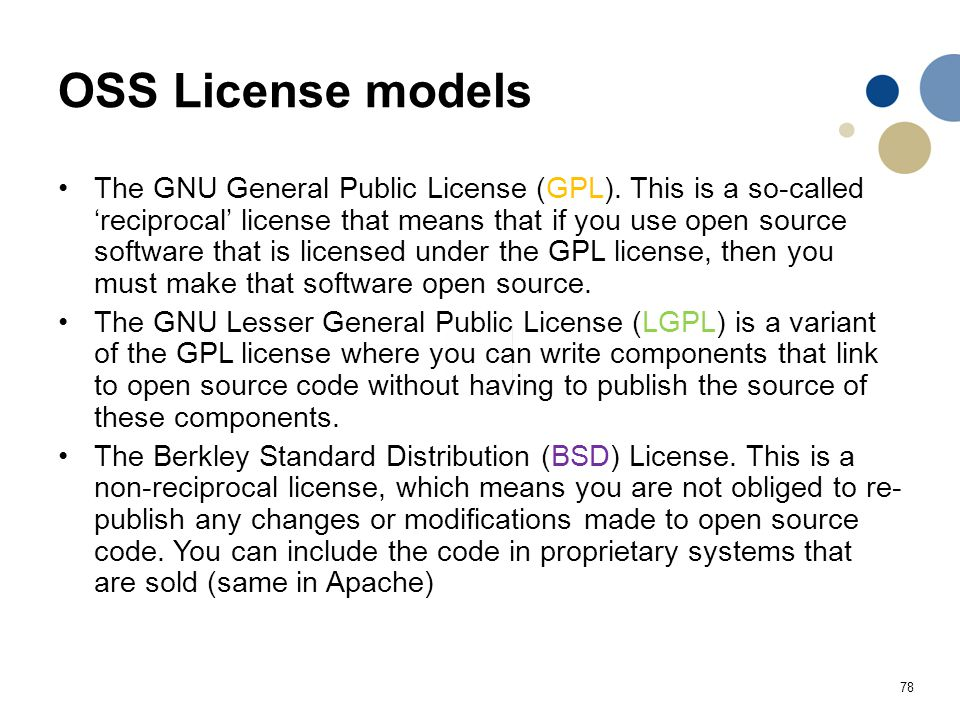 OSS License models