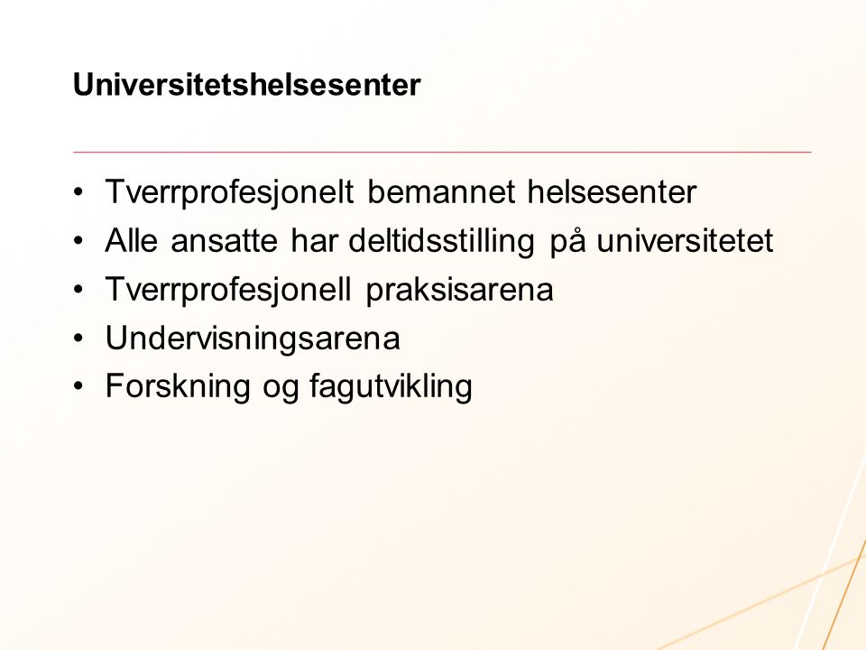 Universitetshelsesenter