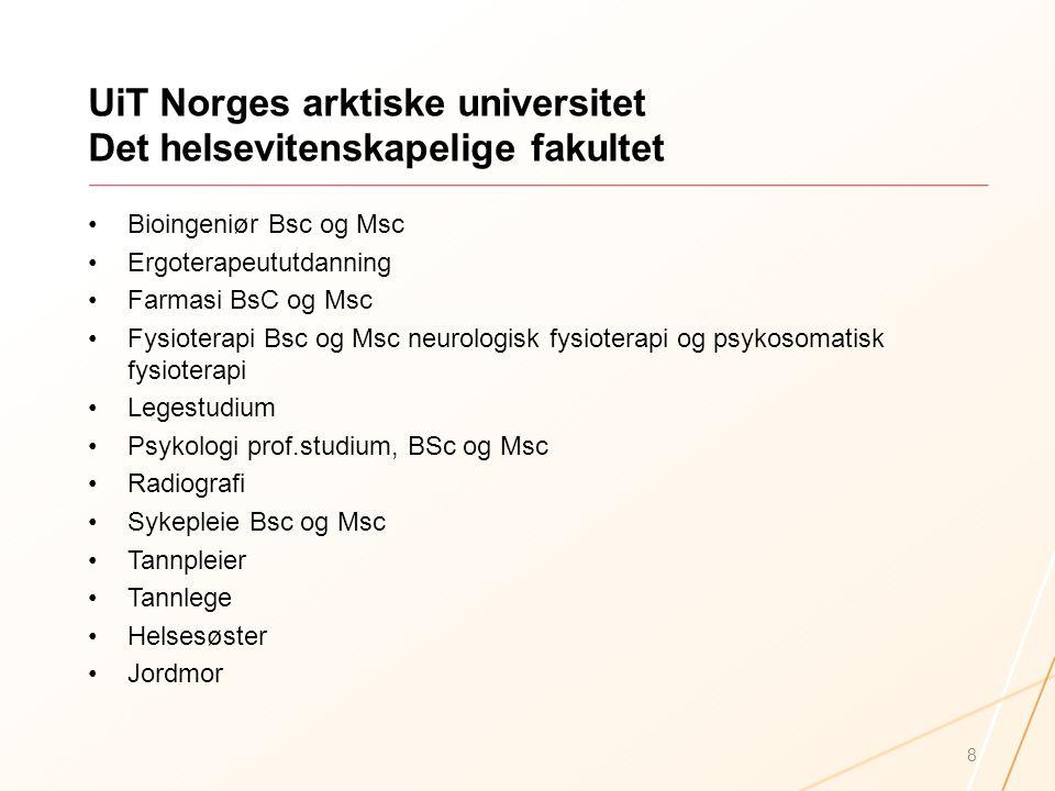 UiT Norges arktiske universitet Det helsevitenskapelige fakultet